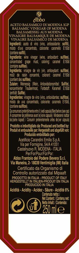 Aceto balsamico di Modena Abbo