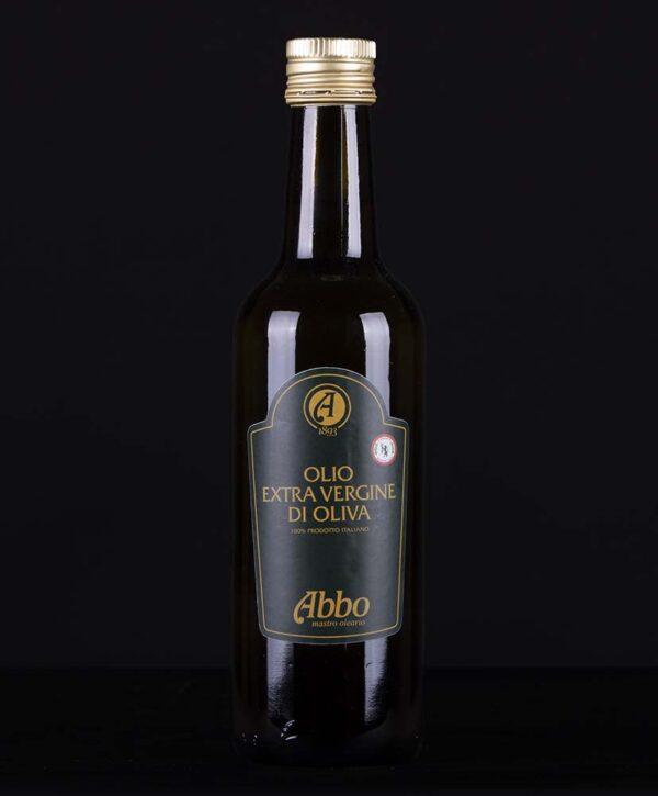 Olio extravergine di oliva high standard Abbo in bottiglia da 0,5lt