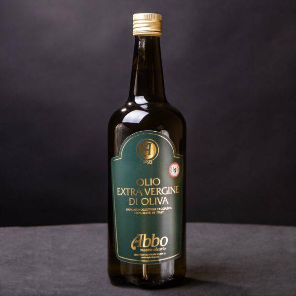 Olio extravergine di oliva high standard taggiasco Abbo in bottiglia da 1lt