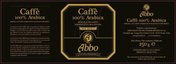 Etichetta caffé arabica Abbo