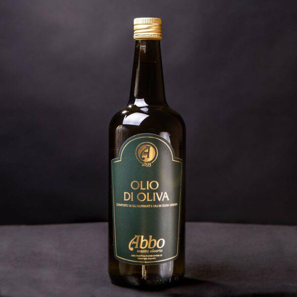 Olio di oliva Abbo 100% italiano in bottiglia da 1lt