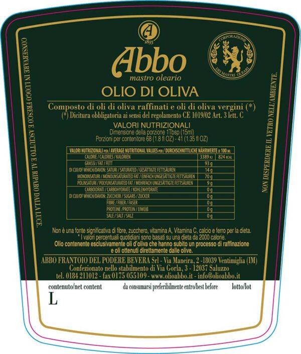 Olio di oliva Abbo