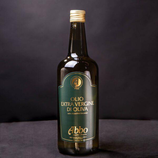 Olio Extravergine di Oliva 100% italiano Abbo in bottiglia da 1lt