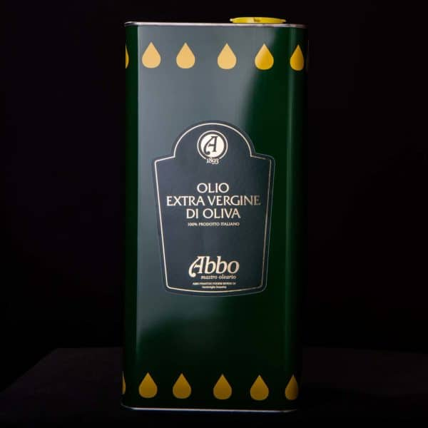 Olio extravergine di oliva 100% italiano Abbo in latta da 5lt